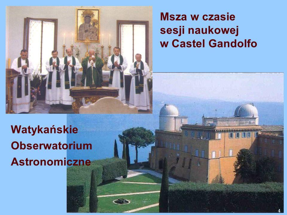 sesji naukowej w Castel Gandolfo