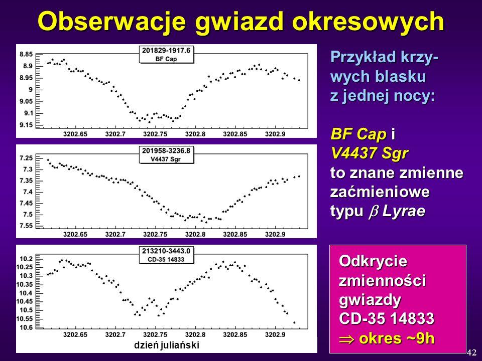 Obserwacje gwiazd okresowych