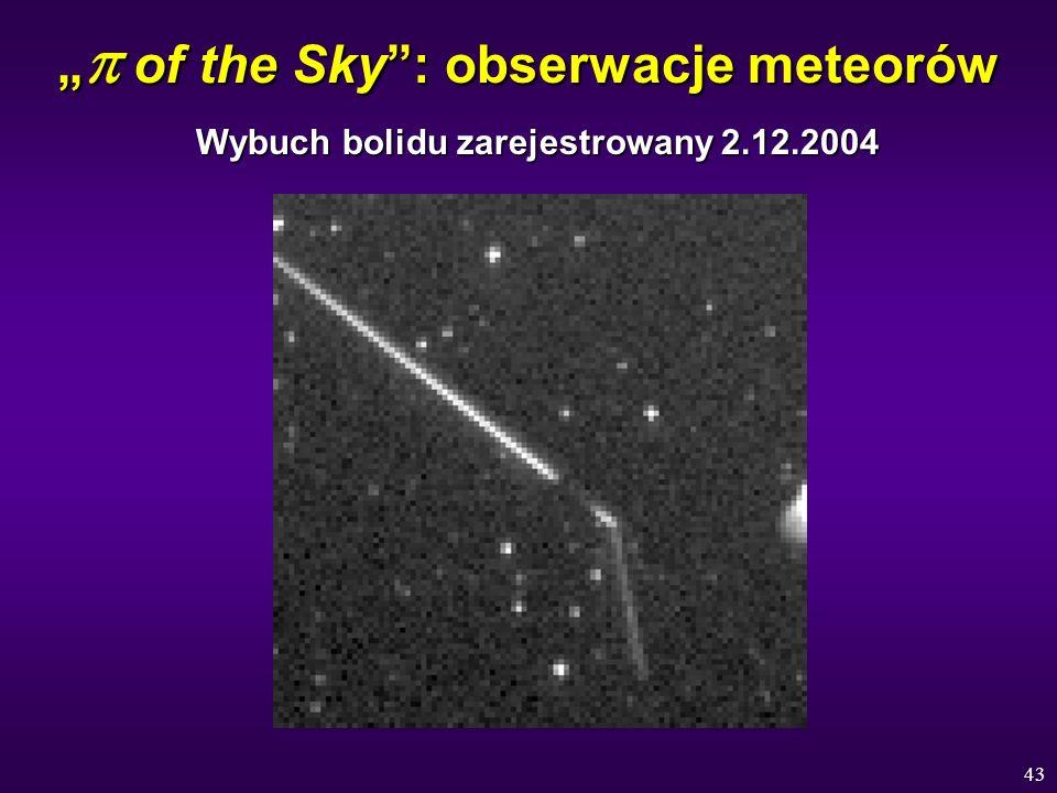 """""""p of the Sky : obserwacje meteorów"""
