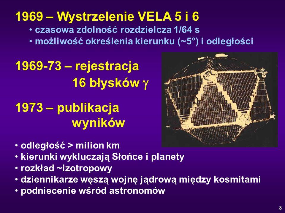 1969-73 – rejestracja 16 błysków g