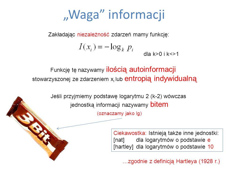 """""""Waga informacji (oznaczamy jako lg)"""