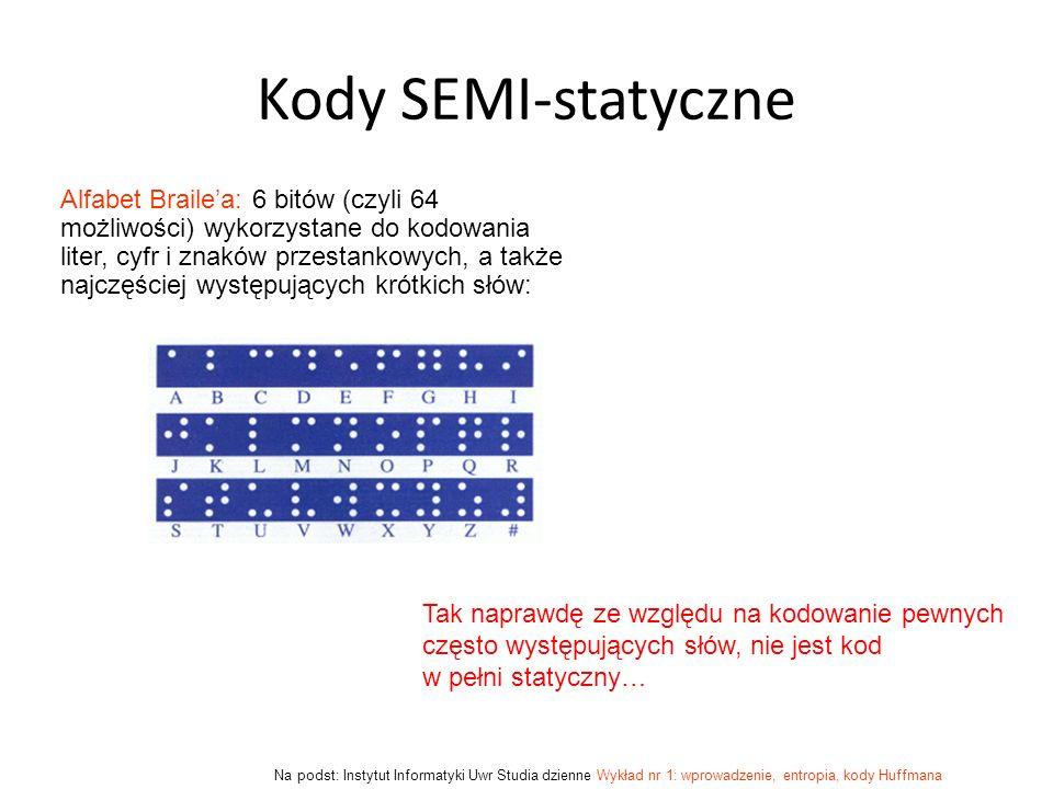 Kody SEMI-statyczne