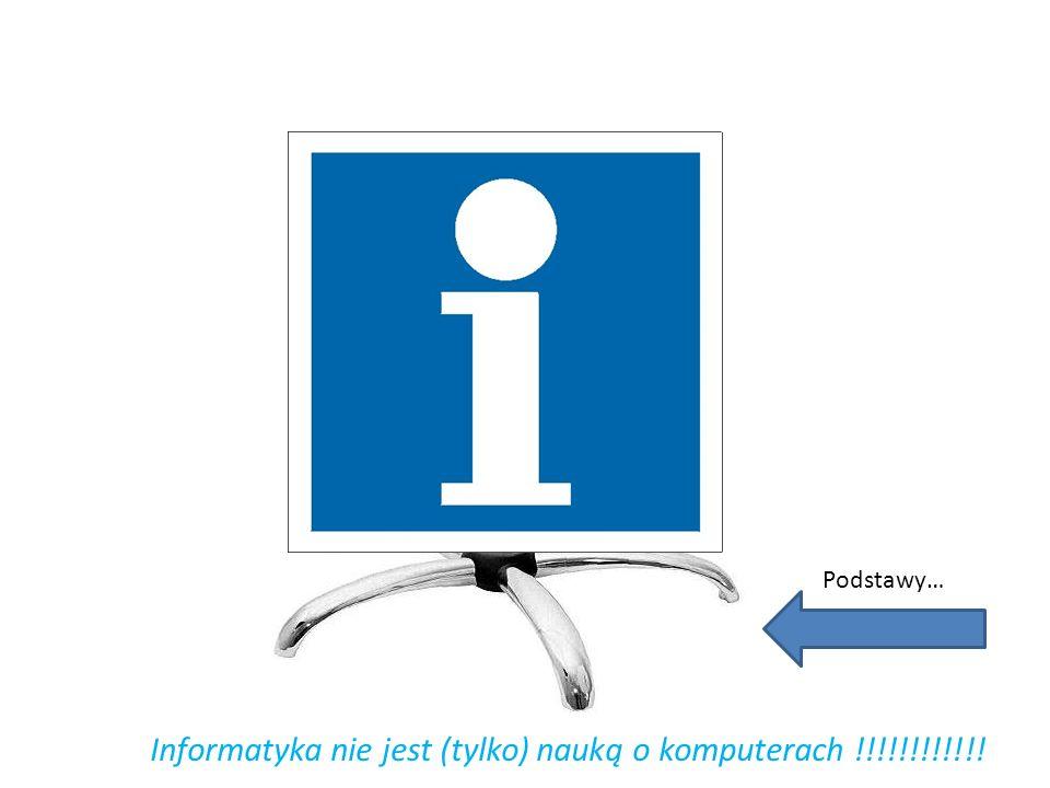 Informatyka nie jest (tylko) nauką o komputerach !!!!!!!!!!!!