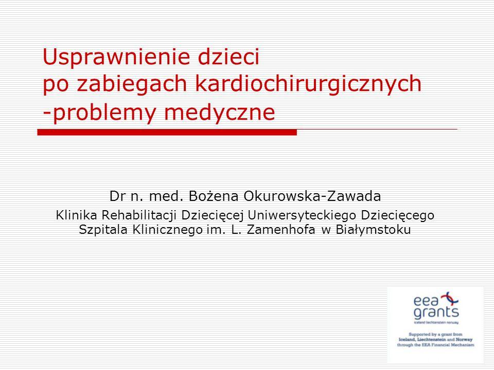 Dr n. med. Bożena Okurowska-Zawada