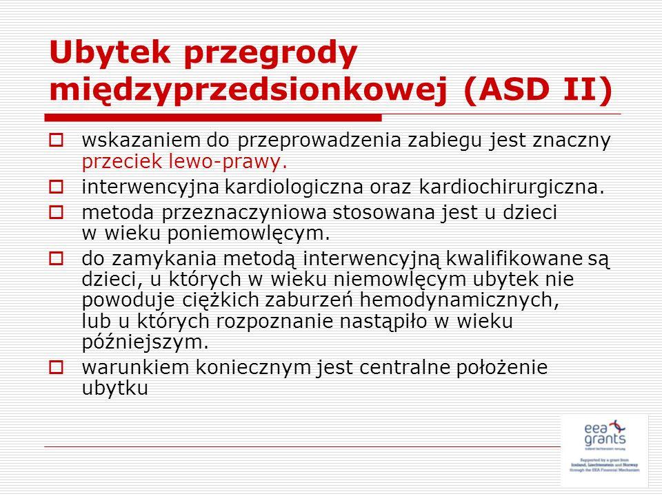 Ubytek przegrody międzyprzedsionkowej (ASD II)