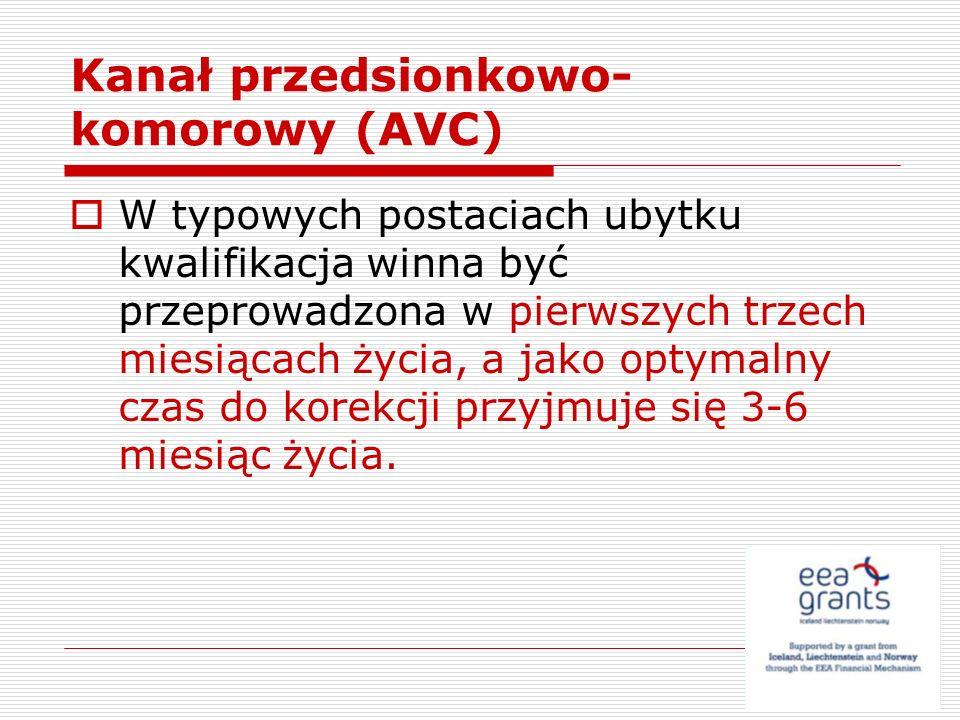 Kanał przedsionkowo-komorowy (AVC)