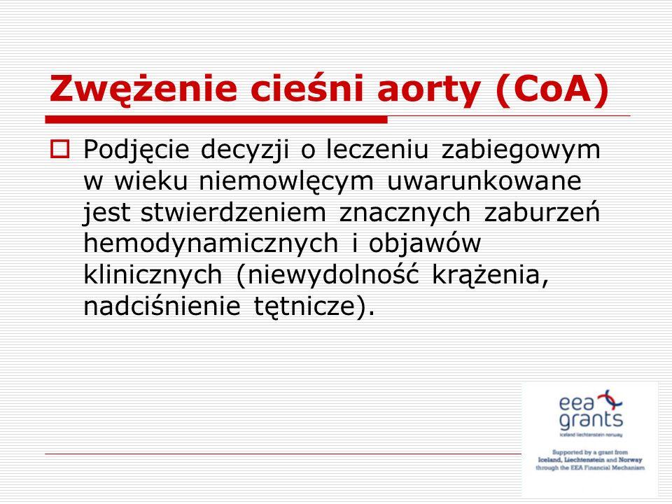 Zwężenie cieśni aorty (CoA)