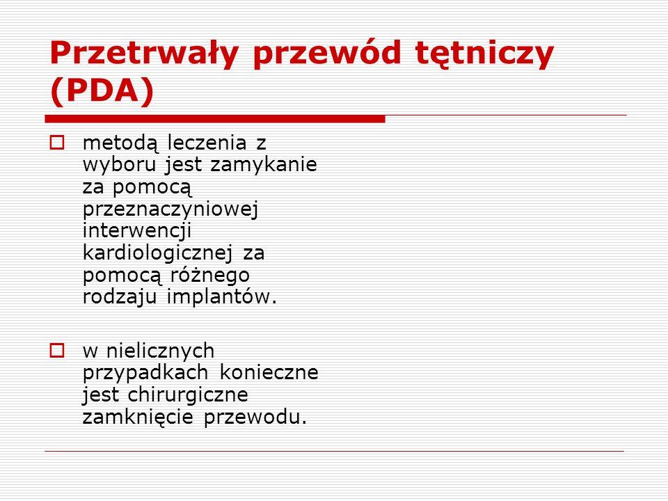 Przetrwały przewód tętniczy (PDA)