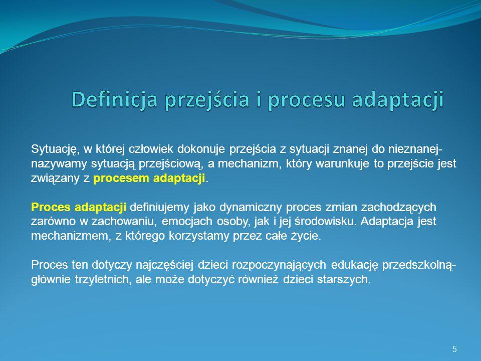 Definicja przejścia i procesu adaptacji