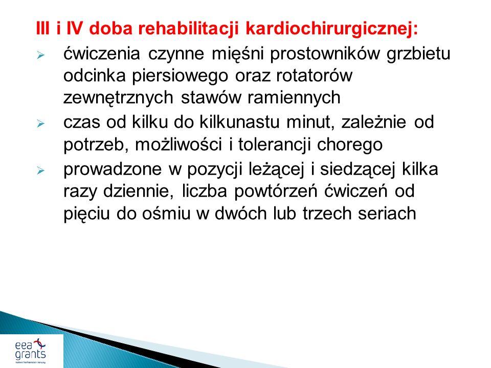 III i IV doba rehabilitacji kardiochirurgicznej: