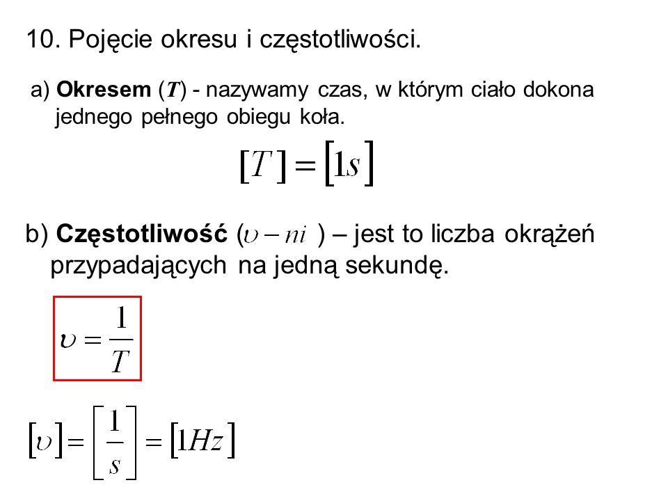 10. Pojęcie okresu i częstotliwości.