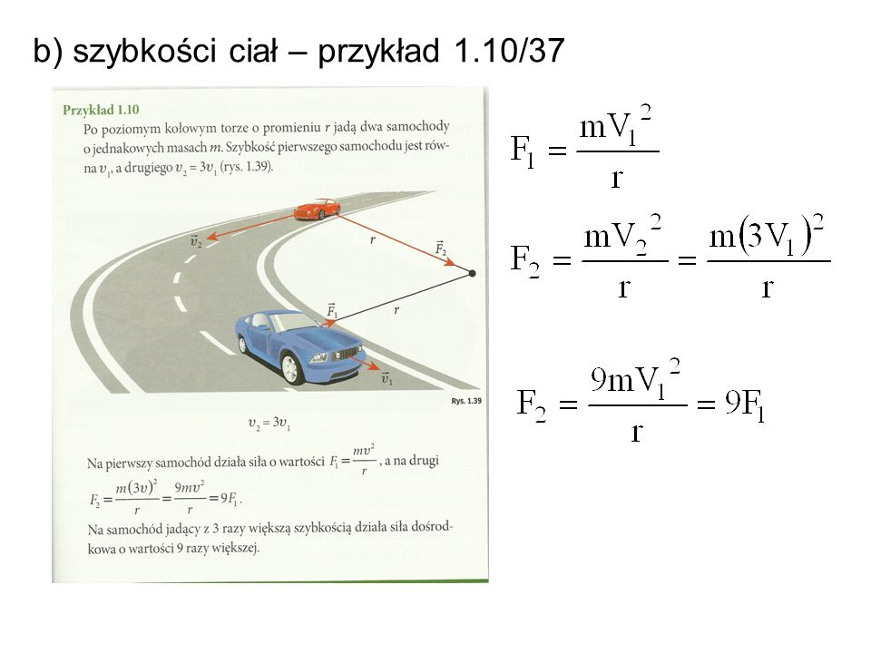 b) szybkości ciał – przykład 1.10/37