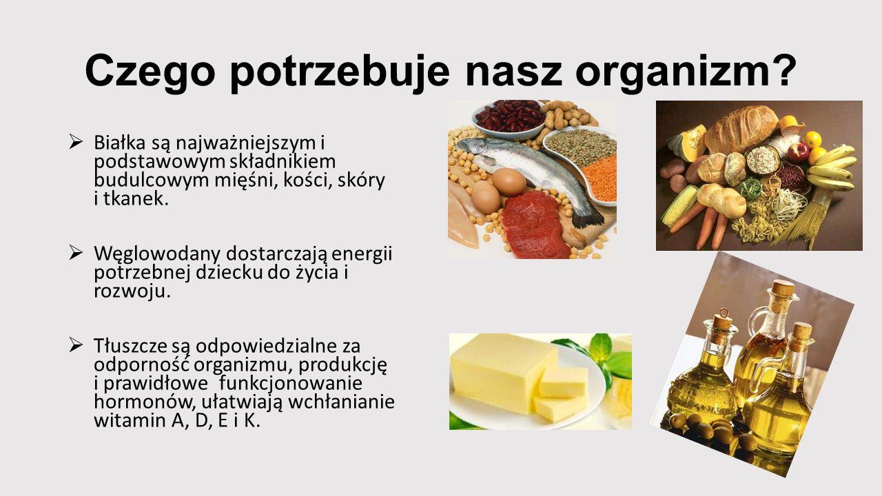 Czego potrzebuje nasz organizm
