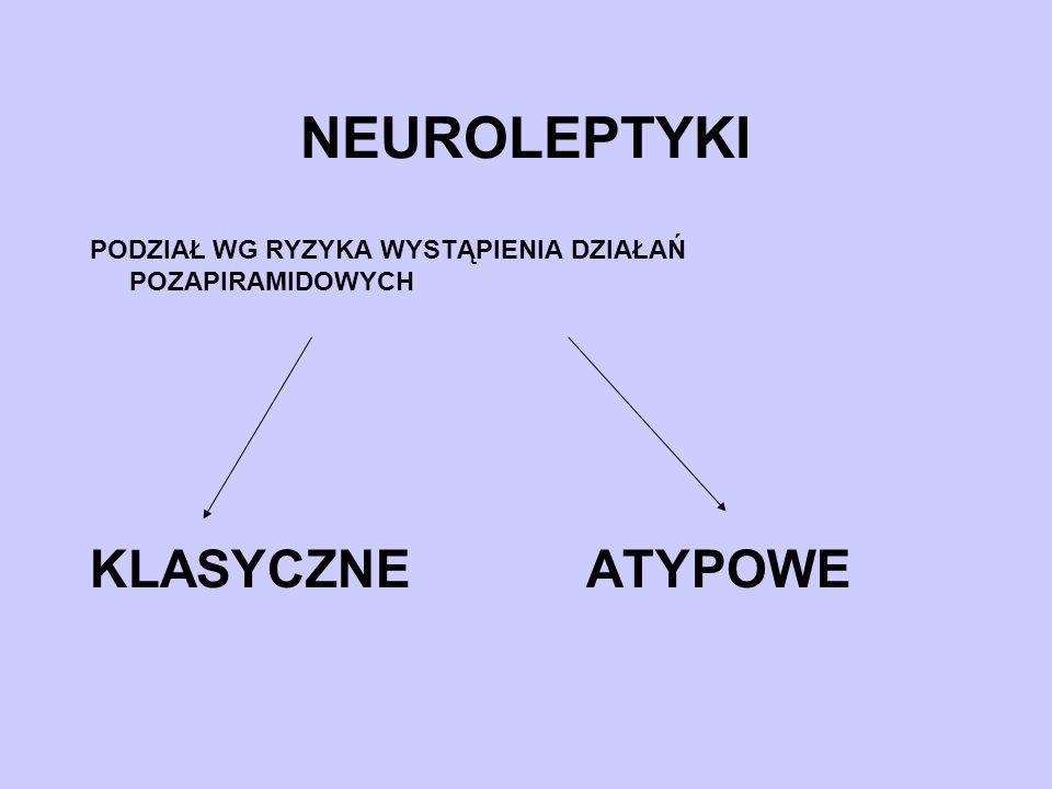 NEUROLEPTYKI KLASYCZNE ATYPOWE