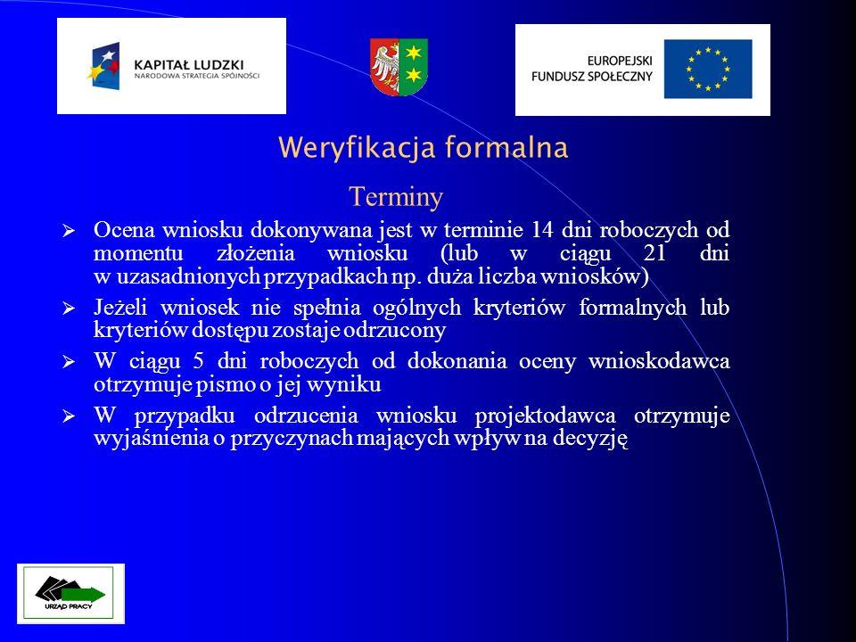 Weryfikacja formalna Terminy