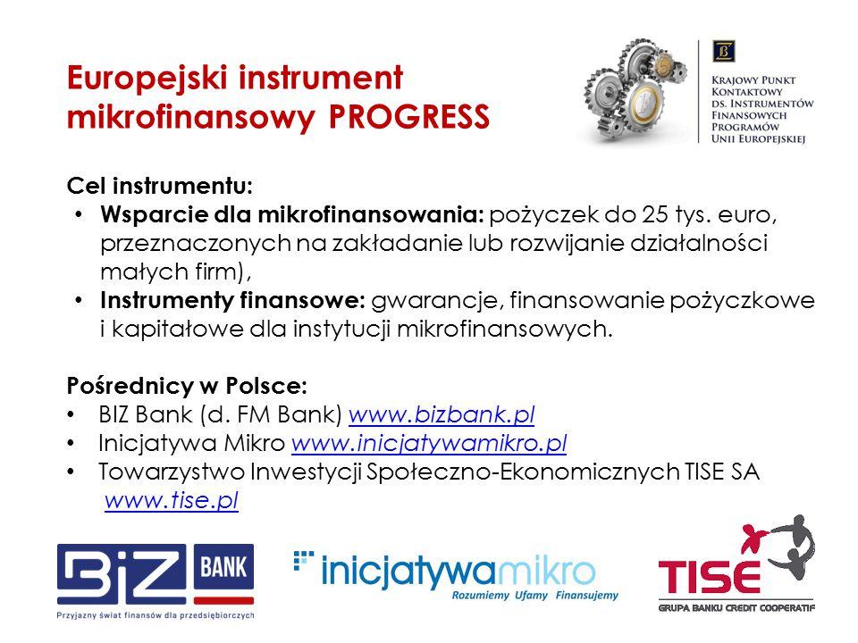 Europejski instrument mikrofinansowy PROGRESS