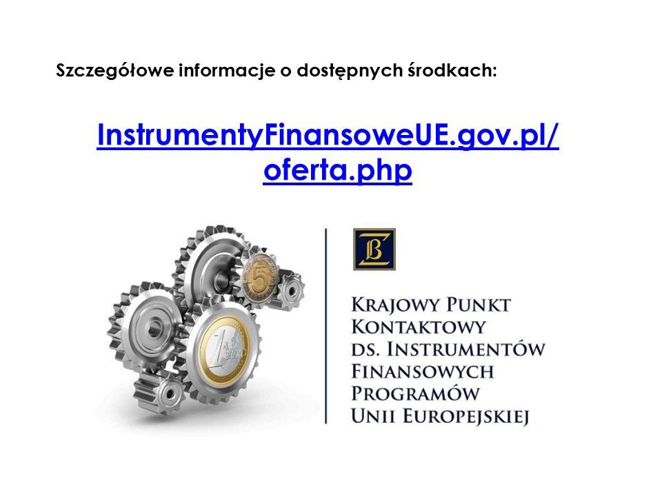 InstrumentyFinansoweUE.gov.pl/ oferta.php