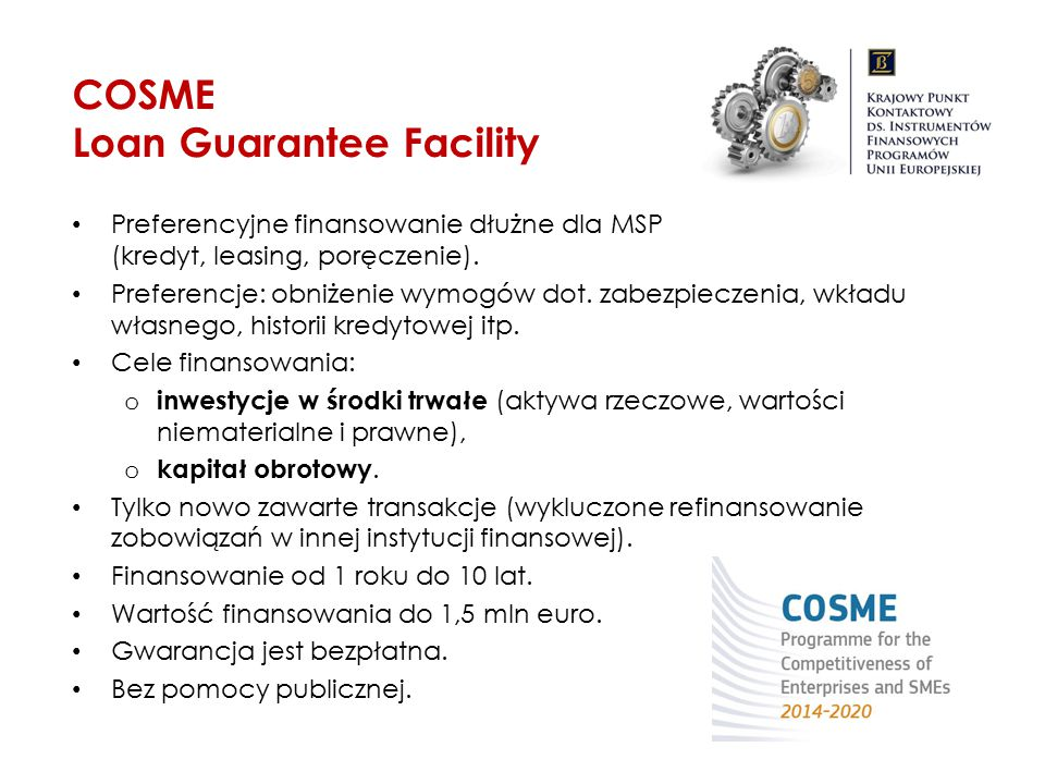 COSME Loan Guarantee Facility