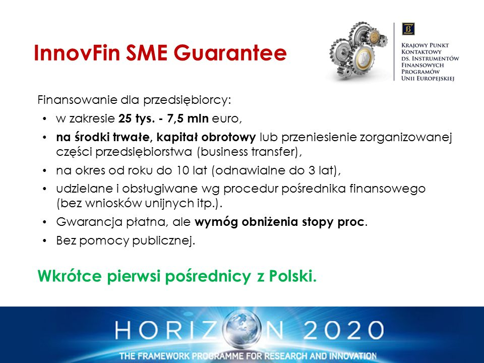 InnovFin SME Guarantee