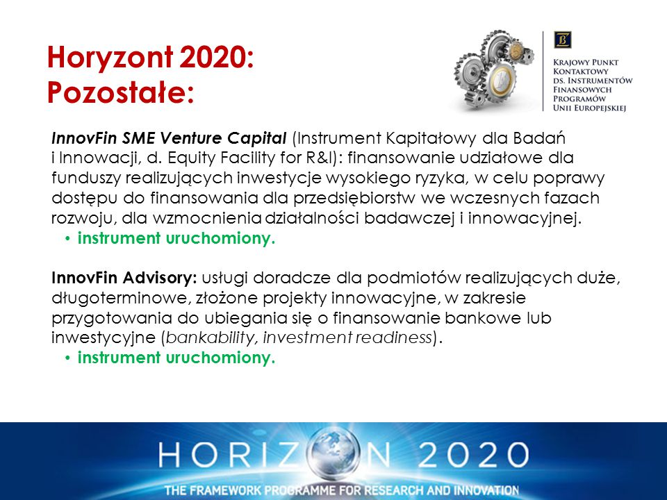 Horyzont 2020: Pozostałe: