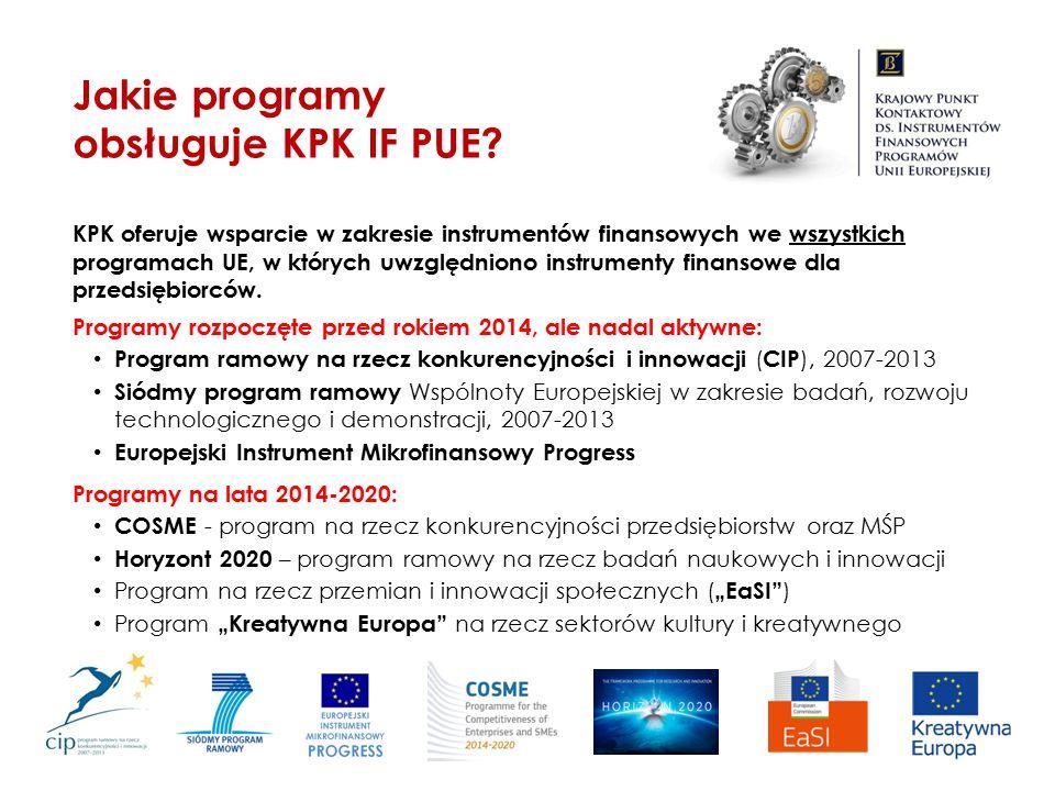 Jakie programy obsługuje KPK IF PUE