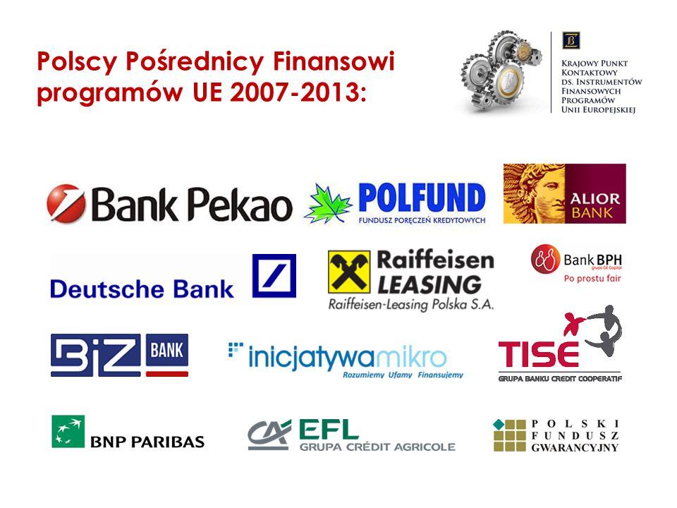 Polscy Pośrednicy Finansowi programów UE 2007-2013: