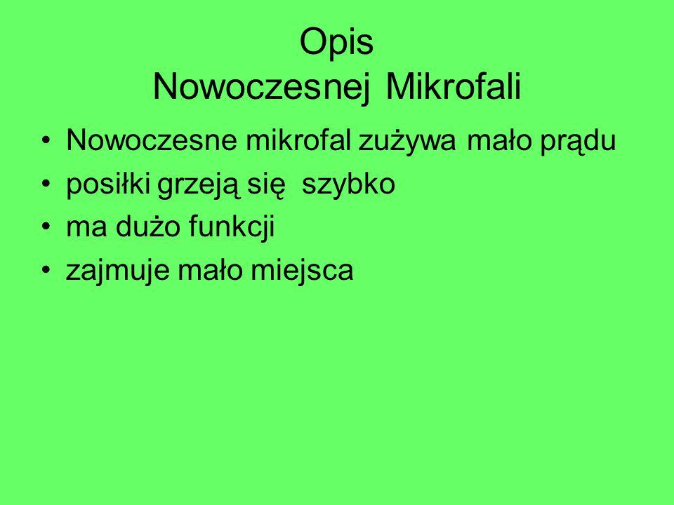 Opis Nowoczesnej Mikrofali