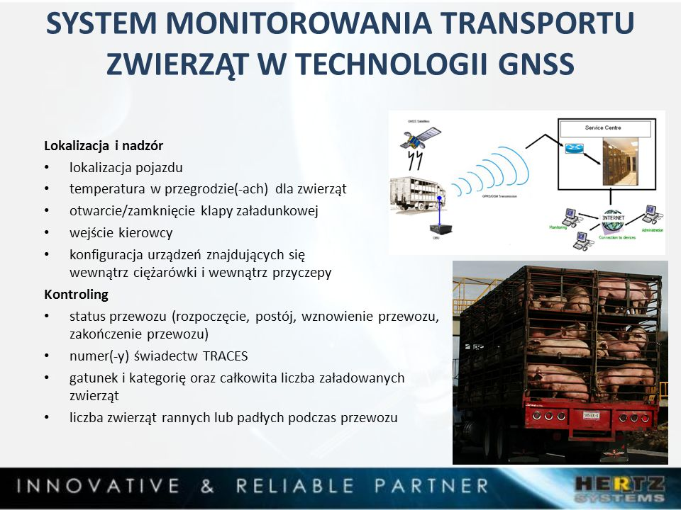 SYSTEM MONITOROWANIA TRANSPORTU ZWIERZĄT W TECHNOLOGII GNSS