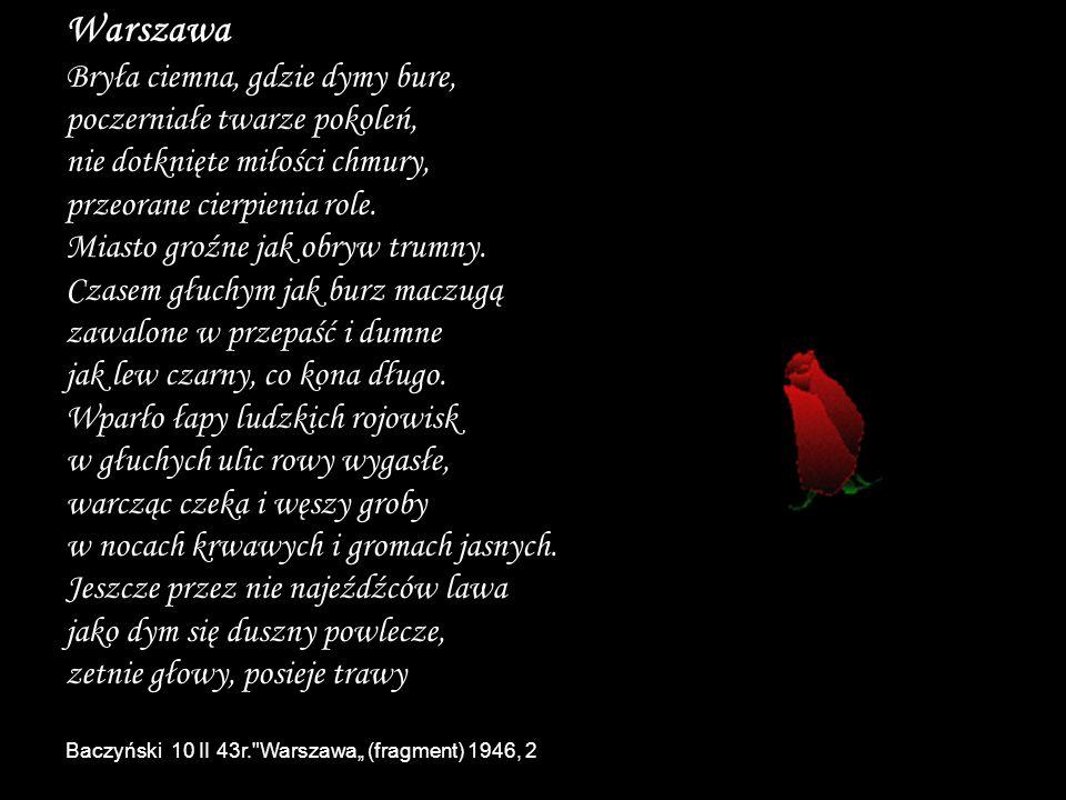Warszawa Bryła ciemna, gdzie dymy bure,