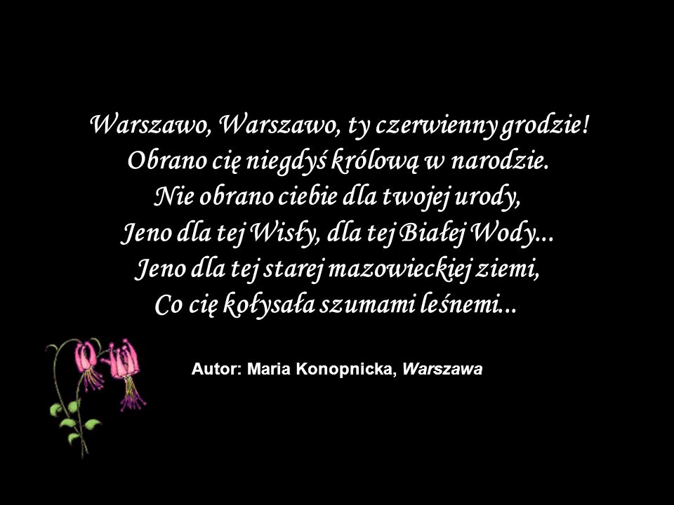 Autor: Maria Konopnicka, Warszawa
