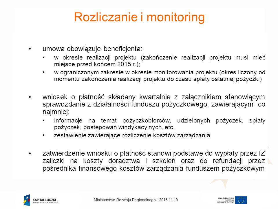 Rozliczanie i monitoring