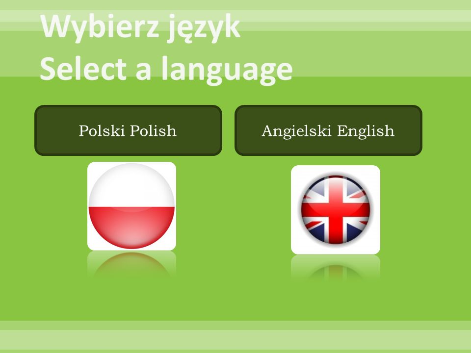 Wybierz język Select a language