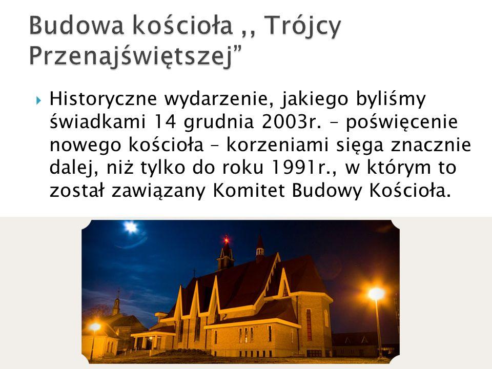 Budowa kościoła ,, Trójcy Przenajświętszej