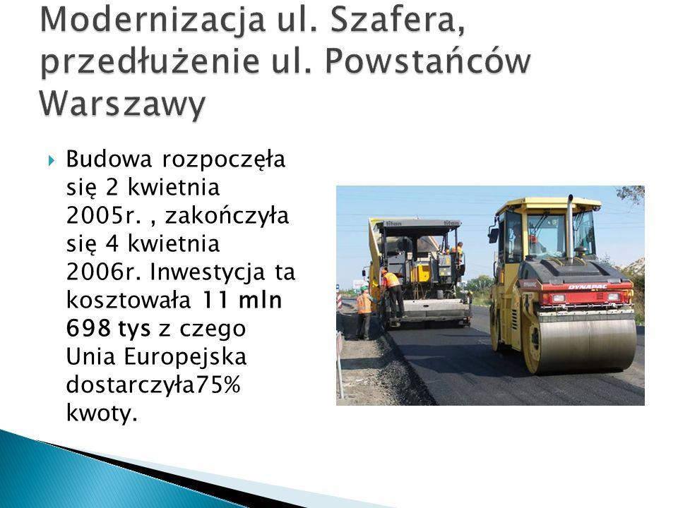 Modernizacja ul. Szafera, przedłużenie ul. Powstańców Warszawy