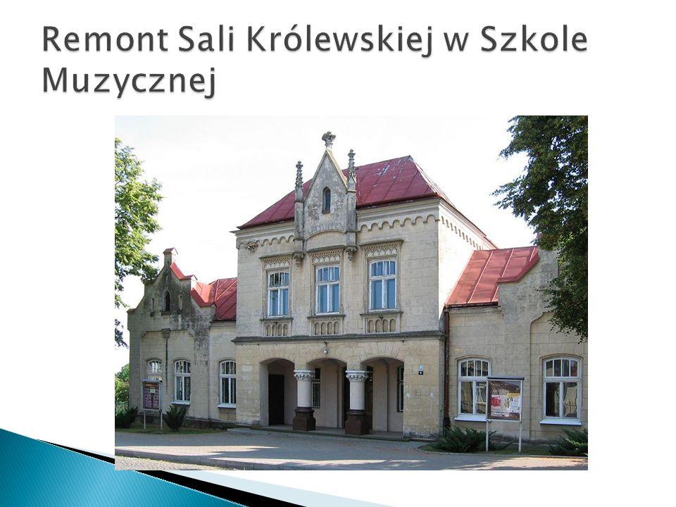 Remont Sali Królewskiej w Szkole Muzycznej