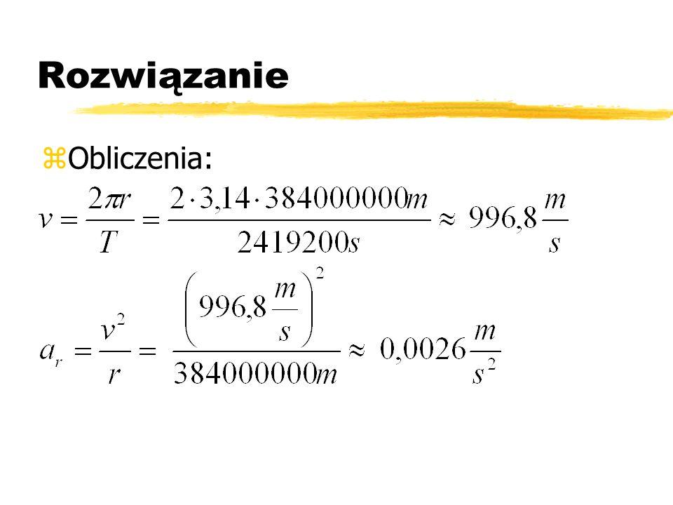 Rozwiązanie Obliczenia: