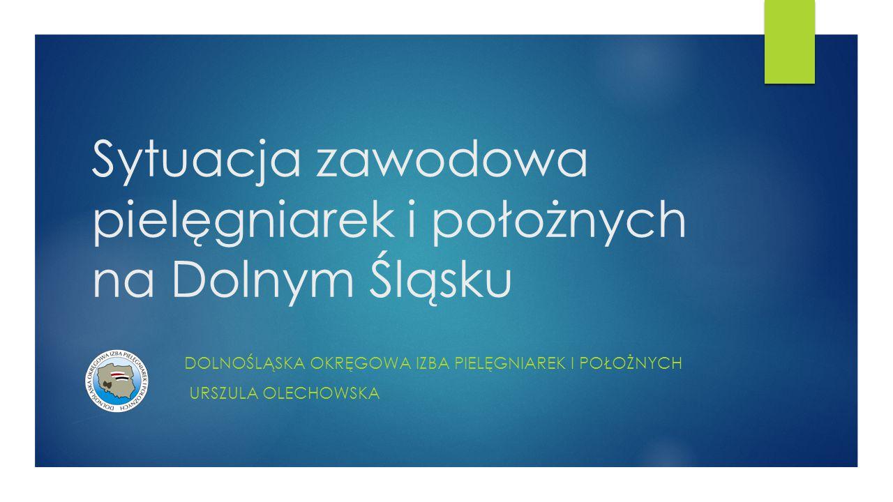 Sytuacja zawodowa pielęgniarek i położnych na Dolnym Śląsku
