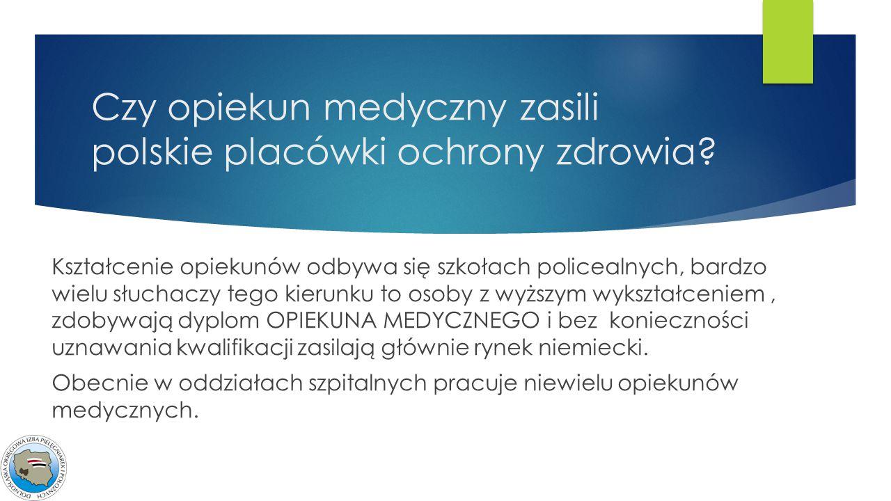 Czy opiekun medyczny zasili polskie placówki ochrony zdrowia
