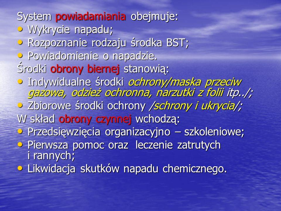 System powiadamiania obejmuje:
