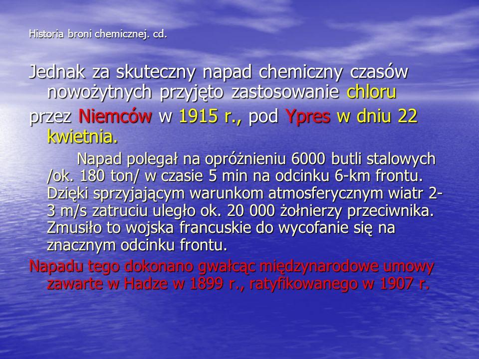 Historia broni chemicznej. cd.