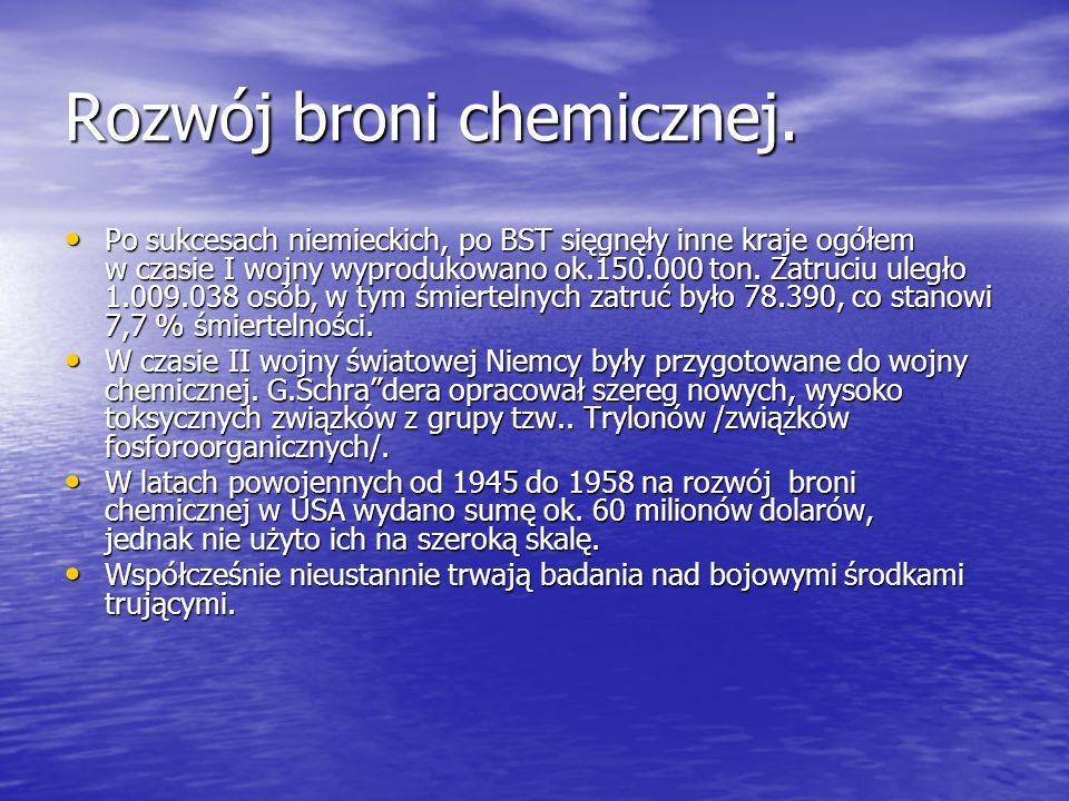 Rozwój broni chemicznej.