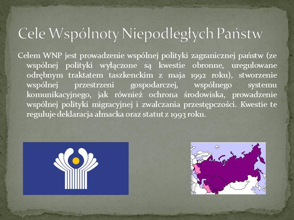 Cele Wspólnoty Niepodległych Państw