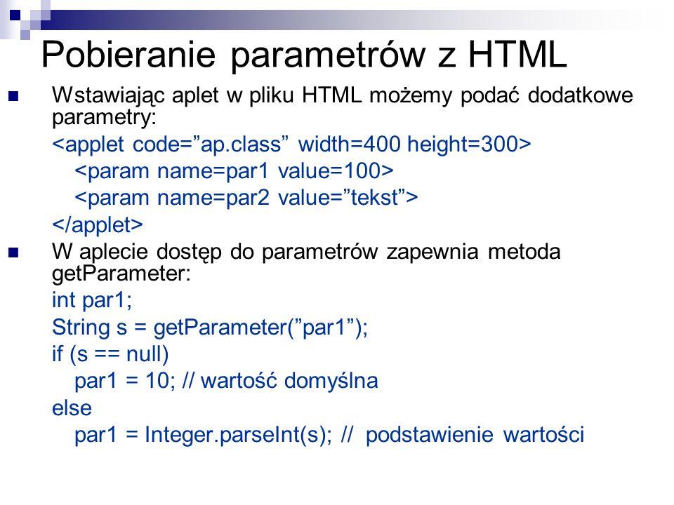 Pobieranie parametrów z HTML