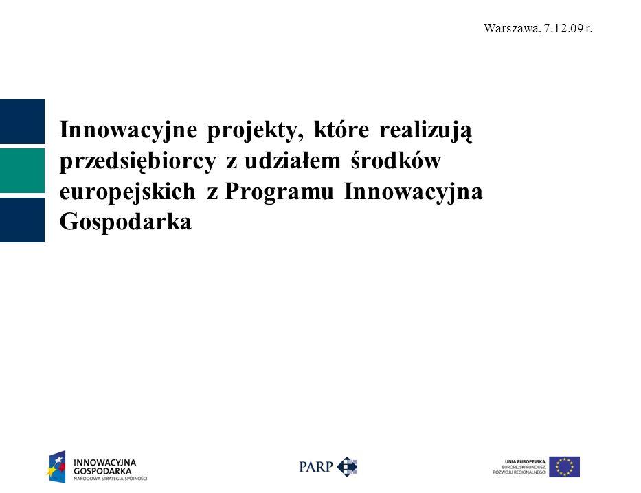 Innowacyjne projekty, które realizują przedsiębiorcy z udziałem środków europejskich z Programu Innowacyjna Gospodarka