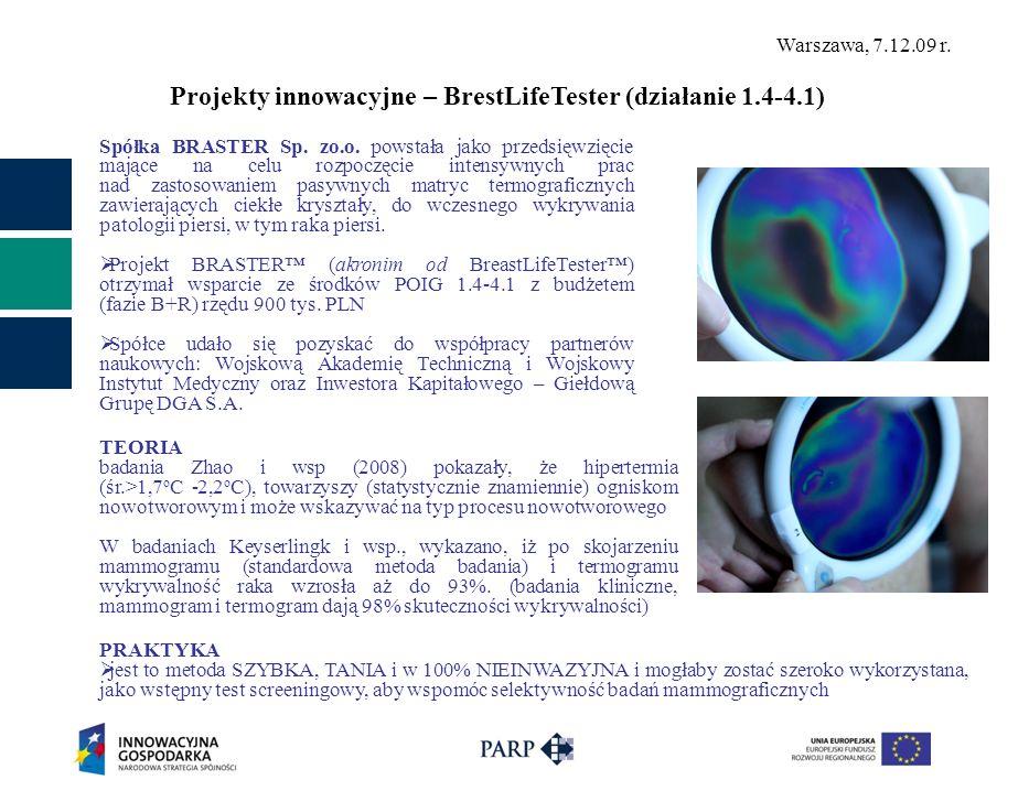 Projekty innowacyjne – BrestLifeTester (działanie 1.4-4.1)