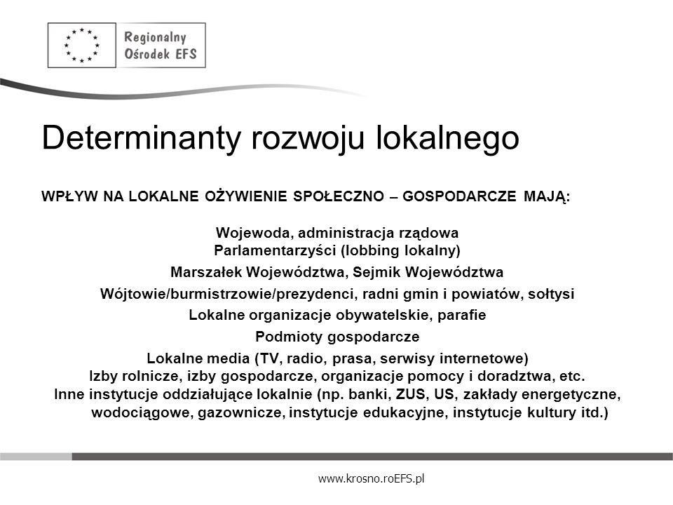 Determinanty rozwoju lokalnego