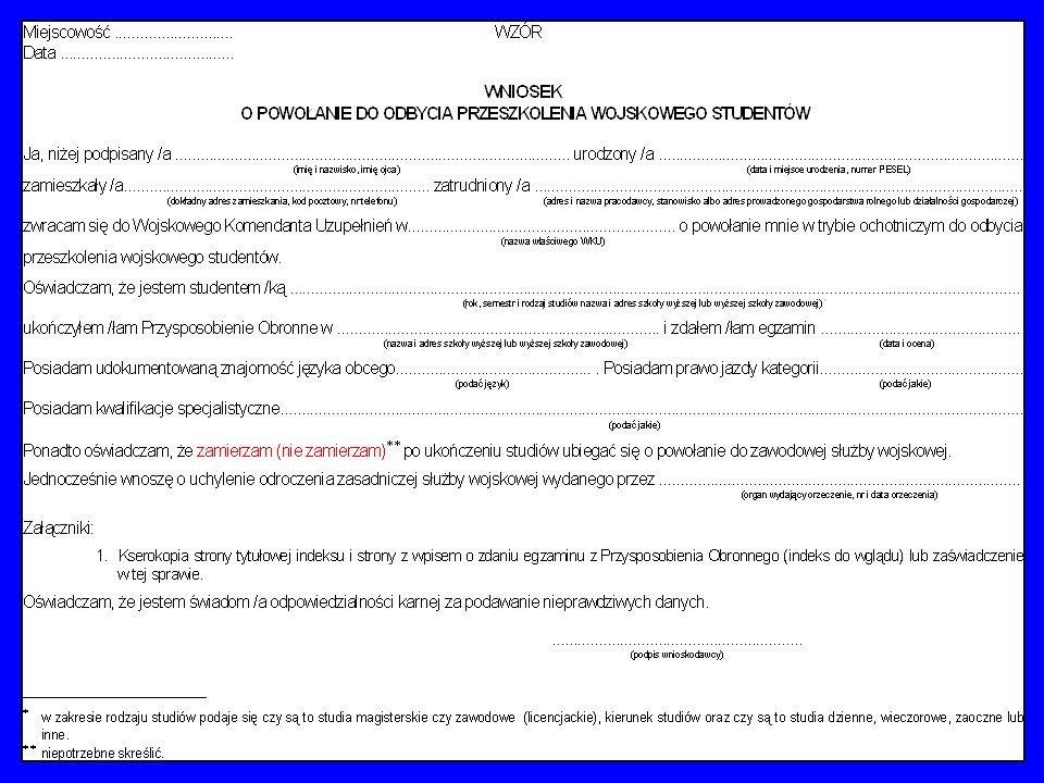 Pierwszy etap przeszkalania wojskowego studentów ochotników szkół wyższych - przysposobienie obronne - reguluje art.166a przywołanej ustawy, którego poszczególne punkty przytoczono na slajdzie.