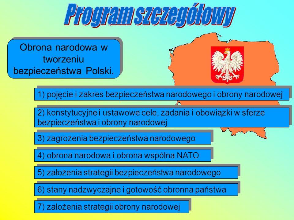 Obrona narodowa w tworzeniu bezpieczeństwa Polski.