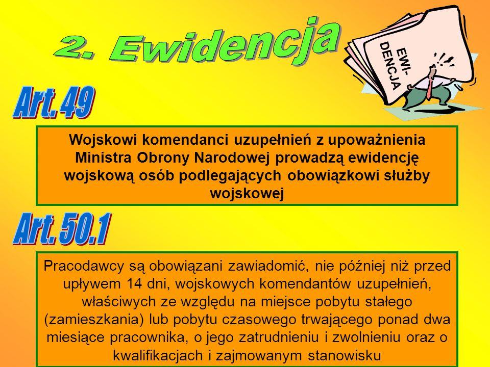 EWI-DENCJA 2. Ewidencja. Art. 49.