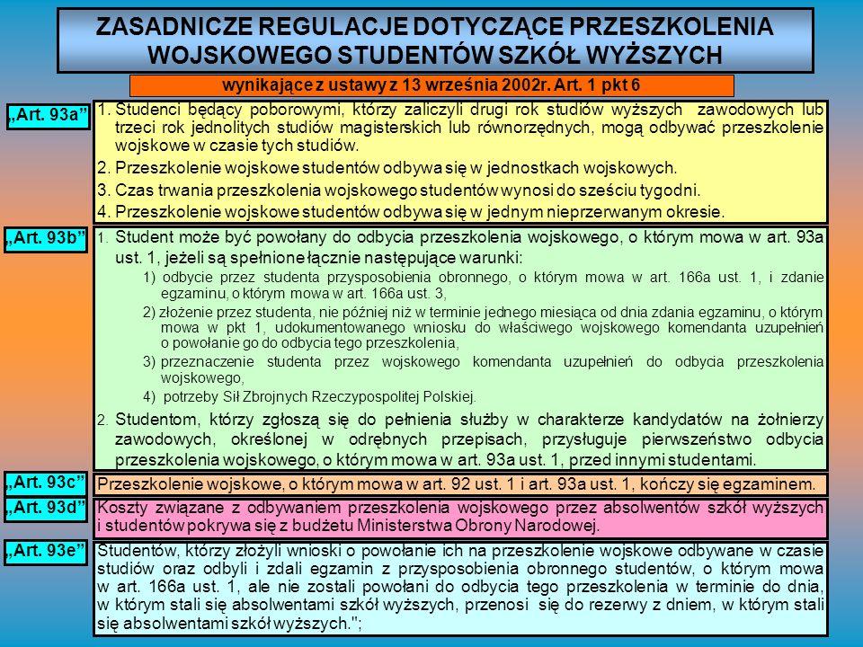 wynikające z ustawy z 13 września 2002r. Art. 1 pkt 6